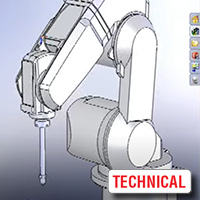Robot Insertion and Program Execution in SolidWorks-Compatible Software