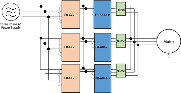 FRA842P 3INVERTERS IN PARALLEL