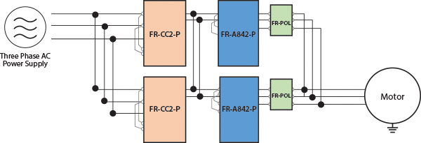 FRA842P 2INVERTERS IN PARALLEL
